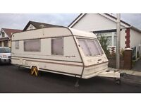 Bailey Pageant Moselle 1996 for sale. 4 berth, L shaped lounge, dining area, toilet and shower