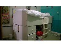 Cabin Bed. White - ASpace Bed. Good Condition.