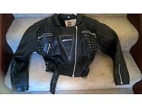 size 8/10 studded leather jacket
