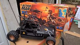 Action man vehicles and 1 box