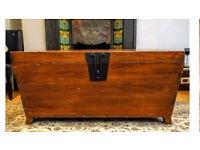 Charming solid wood storage box/coffee table