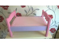 upcycled childrens doll's bed