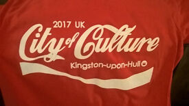 HAND PRINTED T-SHIRT HULL CITY OF CULTURE 2017