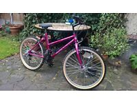 """24"""" ladies / girls bicycle, 18 speed gears virtually unused and in as new condition."""