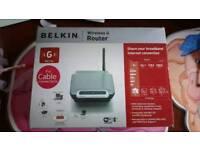 new in box belkin wireless g router f5d7230uk4