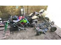 Mini motors Bundle of frames and two bags bits need gone ASAP collection only