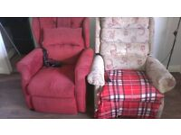 Two Recliner Armchairs in good condition