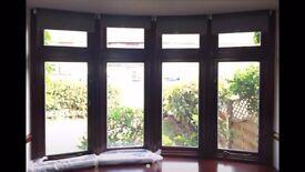 4 roller blinds for sale. Dark grey.