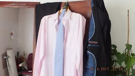 Pin Stripe Suit/Shirt and Tie
