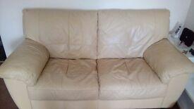 Leather Sofas (Cream)