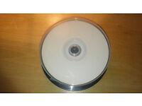 30 DVD-RW 4.7GB white printables.