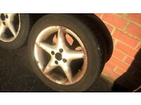 4 five spoke alloy wheels 4x100 £20. 6x15