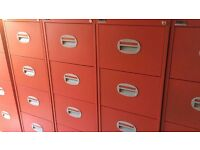 Red 4 Drawer Filing Cabinet