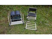 Team Waterline & TI-55 aluminium fishing seats