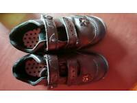 Leather girls school shoes size 11
