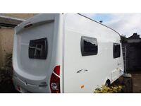 Lunar stellar 400 2 berth caravan lightweight modern alloys motormover fixed bed