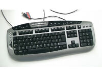 Microsoft Digital Media Pro Keyboard (KC-0405) + Software CD (USB, Black, Silver, Desktop PC, Apple)