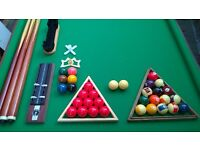 complete set pool/snooker table