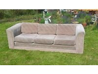 Two matching Bauhaus sofas in beige - a 3 seater and a 2 seater