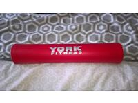 York Barbell Pad Squat Bar Support Weight Prrotective Foam