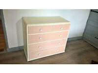 Oak painted chest of drawers - shabby chic