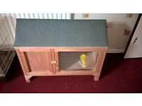 BRAND NEW RABBIT HUTCH - ONLY USED FOR 24 HOURS! Bargain for anyone looking to buy a small hutch!