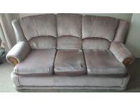 Three seats sofa and 2 armchairs