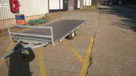 L A R G E twin axle trailer for sale