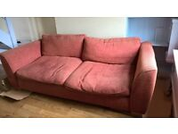 Free large sofa must go. Some wear and tear