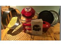 Digital halogen oven with hinged lid plus air fryer and recipe book