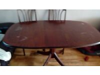 Extending dining table.