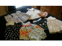 BABY GIRLS SATIN DRESSES BUNDLE AGED APPROX 18 MONTHS