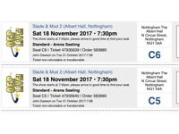 Slade & Mud 2 Nottingham Saturday 18th November. Two tickets for sale