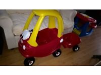 Little Tikes Cozy Coupe Car and trailer