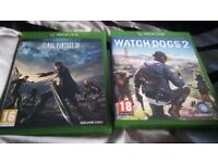 final fantasy XV & Watch Dogs 2 for sale, xbox one!