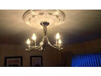 Chrome and crystal Ceiling light