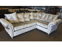 FABRIC/CRUSH VELVET SOFA LUXURY *MARYLAN SOFA* CHEAPEST PRICE 3+2/Corner sofa 928