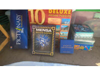 Games, jigsaw, angel board and cards