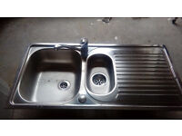 Stainless steel sink and modern monoblock mixer tap for sale