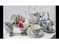 Vintage crockery hire business for sale in time for busiest time of the year