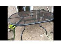 Large Metal Garden Table