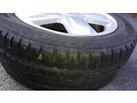 """Alloy Wheels With 4 Tyres 15"""" Renault Citroen Peugeot Fit 4 stud FREE fitting"""