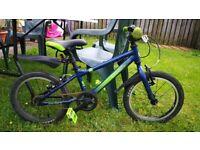 "Carrera Cosmos Kids Bike - 16"" Wheel - Blue Used"