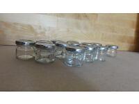 13 small jam jars