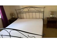 6ft superking black iron bed frame with or without mattress