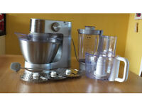 Kenwood mixer with attachments