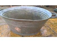 Beautiful Tin Bath for Sale