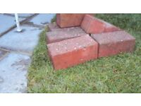 Paving Brindle (path/drive) red bricks (80) and loft/floor insulation roll