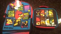 New with tags angry birds backpack and lunch can