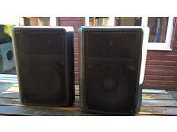 "DAP K-112 Passive 12"" Speakers 225W Continuous 8Ohm Pair Good Condition"